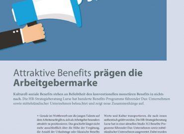 Attraktive Benefits prägen die Arbeitgebermarke
