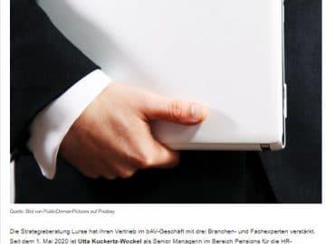 Lurse verstärkt Geschäftsfelder Pensions Consulting und bAV-Solutions