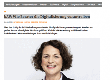 bAV: Wie Berater die Digitalisierung vorantreiben