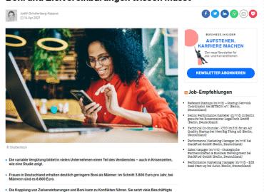 Fast 10.000 Euro Extra-Gehalt im Jahr: Immer mehr Mitarbeiter erhalten variable Vergütung — was ihr über Boni und Zielvereinbarungen wissen müsst
