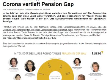 Corona vertieft Pension Gap